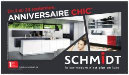 Anniversaire chic - Cuisines Schmidt
