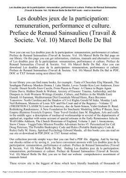 remuneration, performance et culture. Preface de Renaud Sainsaulieu