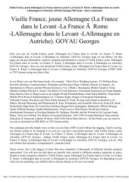 Vieille France, jeune Allemagne (La France dans le Levant