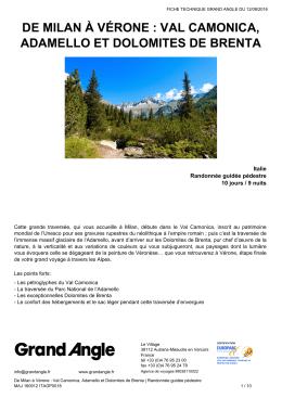 De Milan à Vérone : Val Camonica, Adamello et