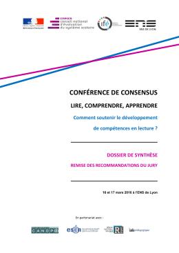 Conférence de consensus sur la lecture