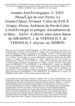 Annales Archéologiques -T. XXIV (Mosaïque de sour (Syrie)