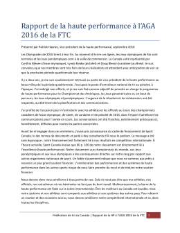 rapport haute performance VP