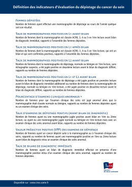 descriptif des indicateurs
