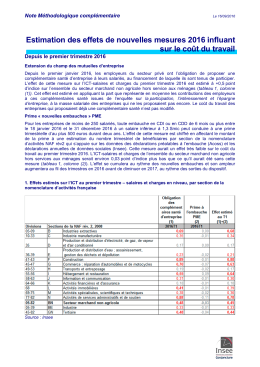Note impact mesures legislatives