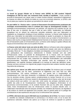 Résumé - UNEP Inquiry