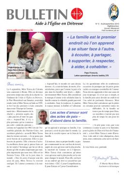 Bulletin N° 6 Août/septembre 2016