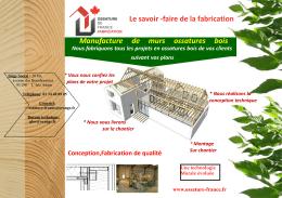 Le savoir -faire de la fabrication Manufacture de murs ossatures bois