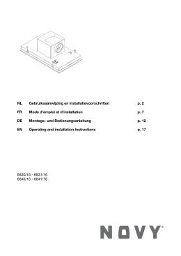 NL Gebruiksaanwijzing en installatievoorschriften p. 2 FR