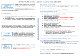 Programme CFGA 2016-2017