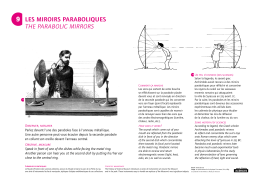 9 les miroirs paraboliques the parabolic mirrors