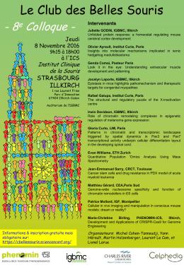 Affiche, Programme et Accès - 10eme colloque du Club des Belles
