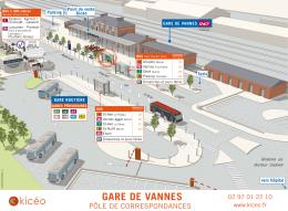 Le plan du pôle de correspondance - Gare SNCF