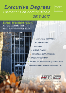 Executive Degrees - HEC Liège