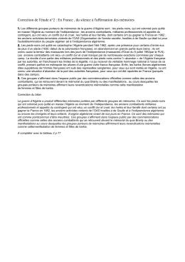 Correction de l`étude n°2 : En France , du silence à l