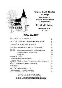 Lire - Paroisse Saint Nicolas La Hulpe