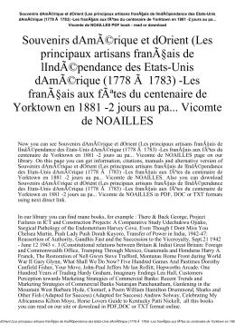 Souvenirs dAmérique et dOrient (Les principaux artisans franÃ