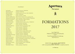 FORM AT IONS 2017 - Apertura