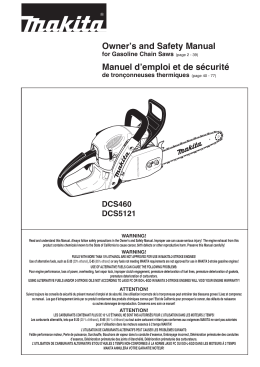 Owner`s and Safety Manual Manuel d`emploi et de sécurité