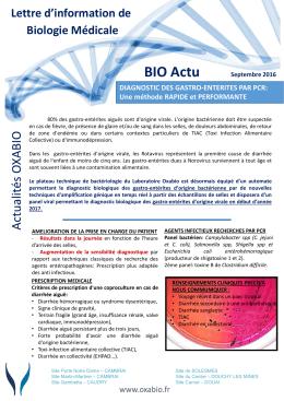 BIO Actu Septembre 2016 - OXABIO