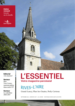 Bulletin paroissial - Les Rives de l`Aire