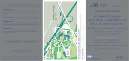Carton d`invitation et plan du campus