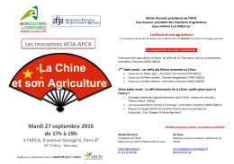 Invitation Déméter/ AFJA /APCA 27 septembre 2016