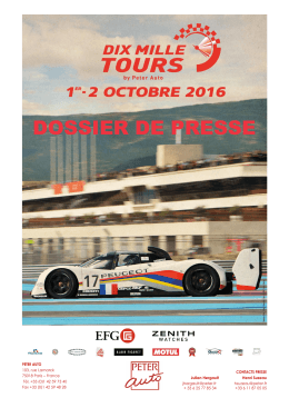 DOSSIER DE PRESSE - News Classic Racing