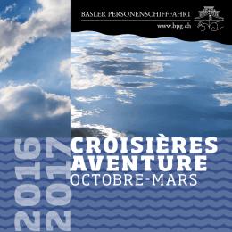croisières aventure - Basler Personenschifffahrt