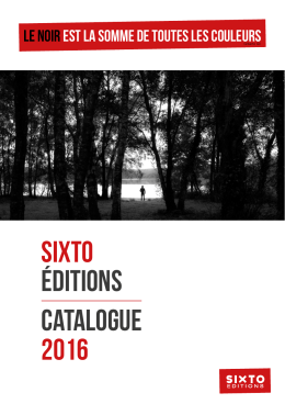 SIXTO éditions Catalogue 2016
