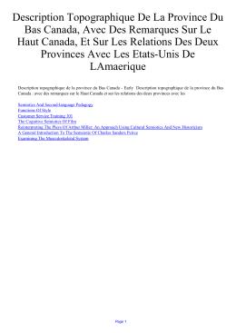Description Topographique De La Province Du Bas Canada, Avec