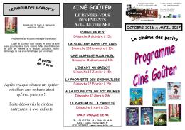 ciné goûter - Cinéma de Bellac