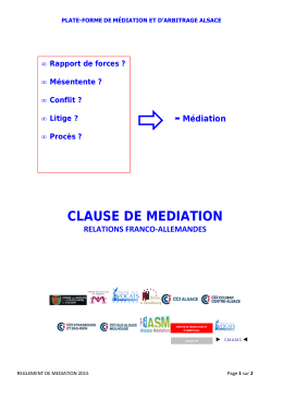 Clause médiation - relations franco-allemandes