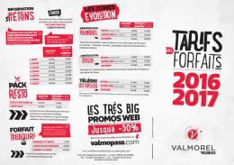 Tarifs - VALMOREL, le Grand Domaine