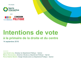 Intentions de vote - Harris Interactive