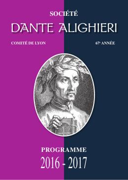 société programme - Société Dante Alighieri