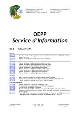 EPPO Reporting Service