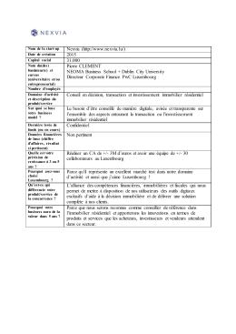 Nexvia (http://www.nexvia.lu/) 2015 31.000 Pierre CLEMENT