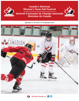 Canada`s National Women`s Team Fall Festival