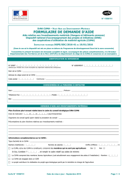 formulaire de demande d`aide - DRAAF Bourgogne - Franche