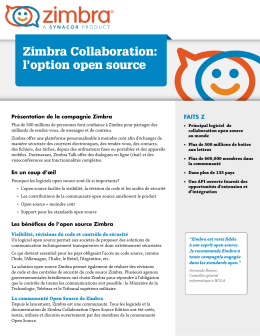 Zimbra Collaboration: l`option open source