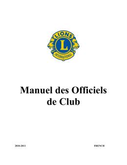 Manuel des Officiels de Club