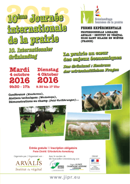 10ème Journée internationale de la prairie