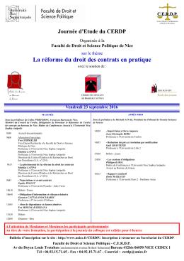 Affiche-Programme - Fil UNS - Université Nice Sophia Antipolis