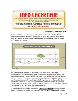 Édition du 11 septembre 2016 - Info Immobilier Rive-Nord