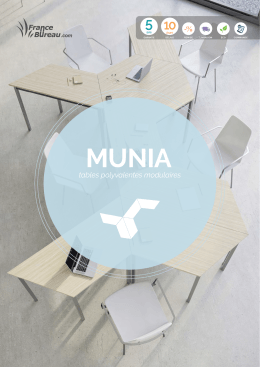 Munia, tables polyvalentes modulaires