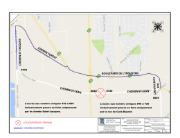 plan du détour proposé - Municipalité de Saint-Paul