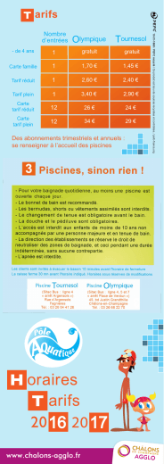 oraires arifs - Ville de Châlons-en