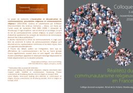 du communautarisme religieux en France