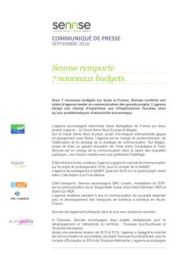 Sennse remporte 7 nouveaux budgets.